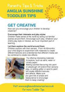 Anglia Sunshine Toddler Tips: Get Creative